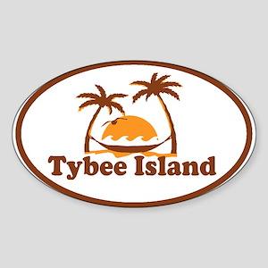 Tybee Island GA - Oval Design. Sticker (Oval)
