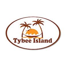 Tybee Island GA - Oval Design. Wall Decal