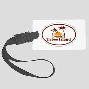 Tybee Island GA - Oval Design. Large Luggage Tag
