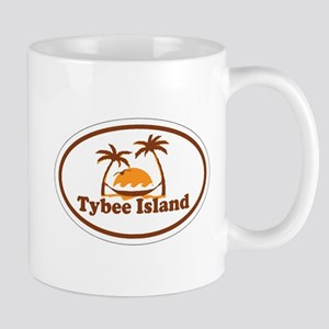 Tybee Island GA - Oval Design. Mug