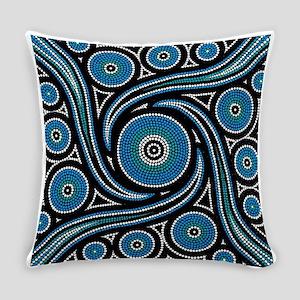 AUSTRALIAN ABORIGINAL ART_BLUE DOT Everyday Pillow
