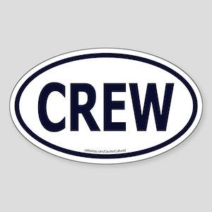 CREW Euro Oval Sticker