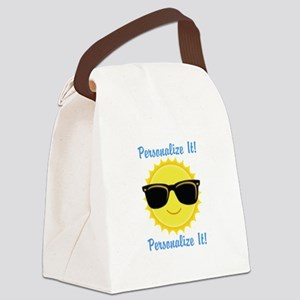 PERSONALIZED Cute Sunglasses Sun Canvas Lunch Bag