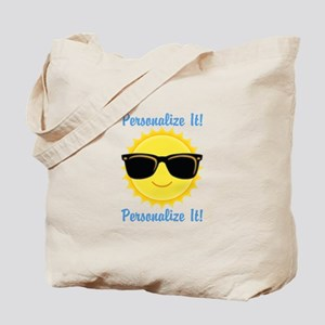 PERSONALIZED Cute Sunglasses Sun Tote Bag