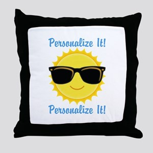 PERSONALIZED Cute Sunglasses Sun Throw Pillow
