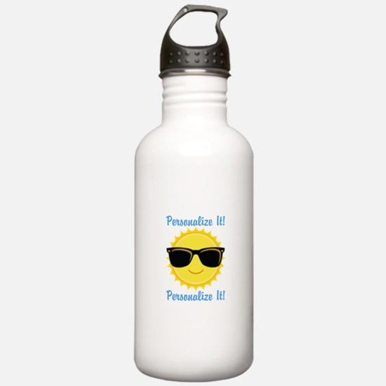 PERSONALIZED Cute Sunglasses Sun Water Bottle
