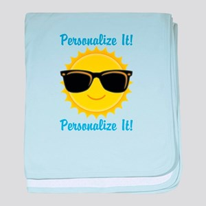 PERSONALIZED Cute Sunglasses Sun baby blanket