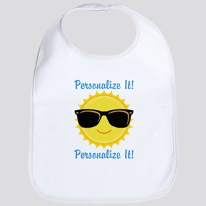 PERSONALIZED Cute Sunglasses Sun Baby Bib