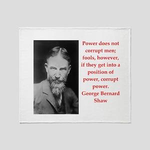 george bernard shaw quote Throw Blanket