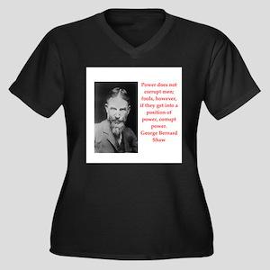george bernard shaw quote Women's Plus Size V-Neck