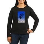 king of plop with text Women's Long Sleeve Dark T-
