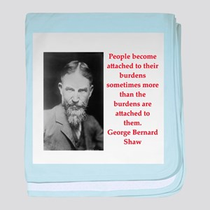 george bernard shaw quote baby blanket
