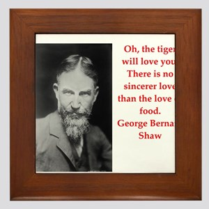 george bernard shaw quote Framed Tile