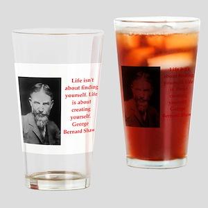 george bernard shaw quote Drinking Glass