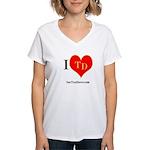 I heart TD Women's V-Neck T-Shirt