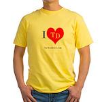 I heart TD Yellow T-Shirt