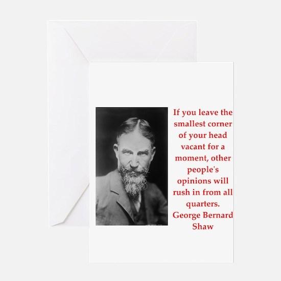 george bernard shaw quote Greeting Card