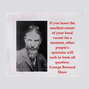 george bernard shaw quote Throw Blanket