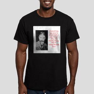 george bernard shaw quote Men's Fitted T-Shirt (da