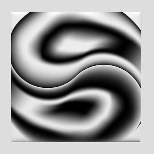 Alternating Yin Yang Tile Coaster