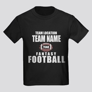 Your Team Fantasy Gray Kids Dark T-Shirt