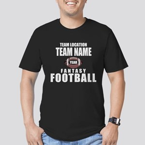 Your Team Fantasy Gray Men's Fitted T-Shirt (dark)