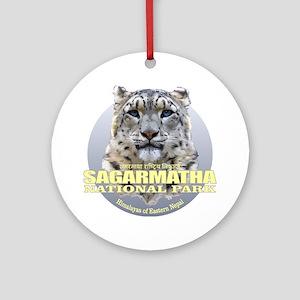 Sagarmatha Snow Leopard Round Ornament
