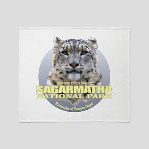 Sagarmatha Snow Leopard Throw Blanket