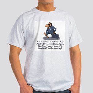 Man Descending Ash Grey T-Shirt