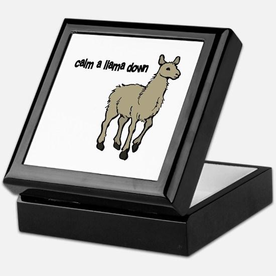 Calm a Llama down Keepsake Box