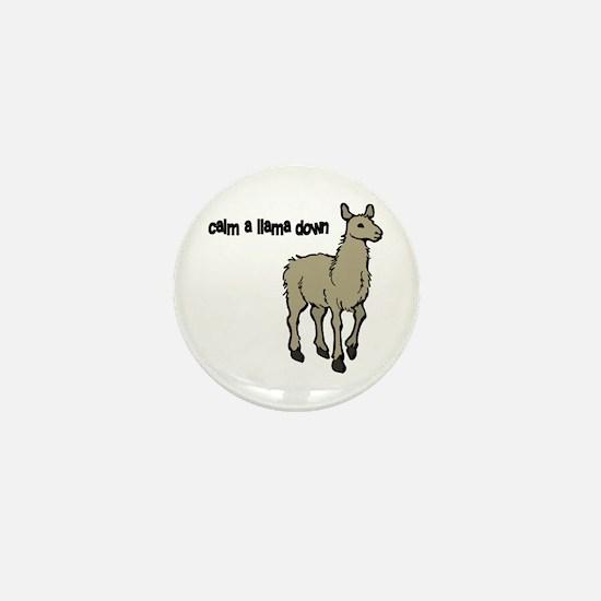 Calm a Llama down Mini Button