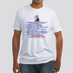 The REAL 10 Commandments Fitted T-Shirt