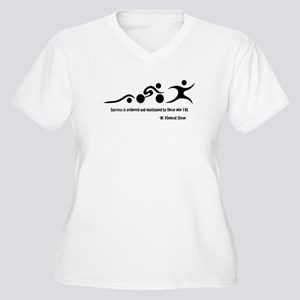 Triathlon T-Shirt Women's Plus Size V-Neck T-Shirt