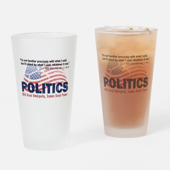 Political Power Drinking Glass