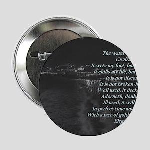 """""""Water"""" by Ralph Waldo Emerson 2.25"""" Button"""