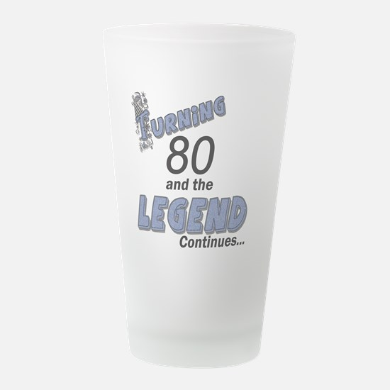 Legend Blue 80.png Frosted Drinking Glass
