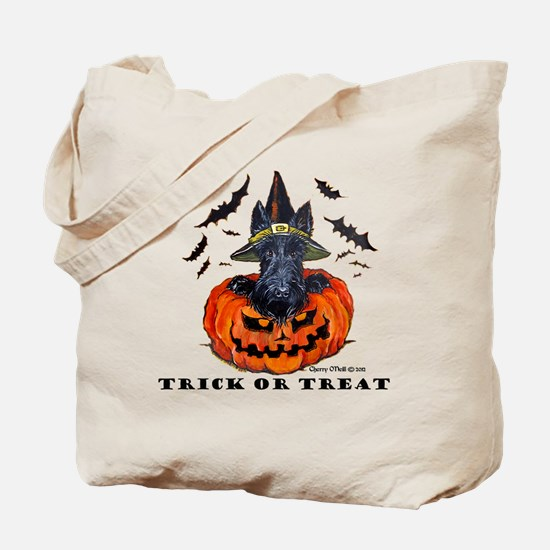 Scottie Witch Tote Bag