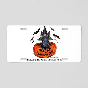 Scottie Witch Aluminum License Plate