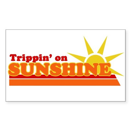 Trippin' on Sunshine Rectangle Sticker