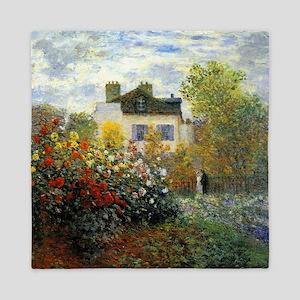 The Garden of Monet at Argenteuil Queen Duvet