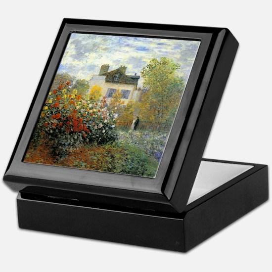 The Garden of Monet at Argenteuil Keepsake Box
