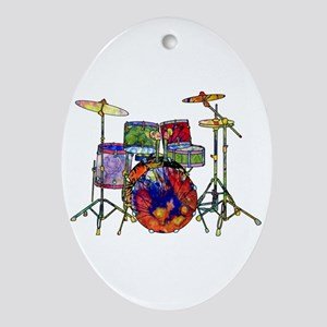 Wild Drums Ornament (Oval)