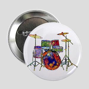 """Wild Drums 2.25"""" Button"""