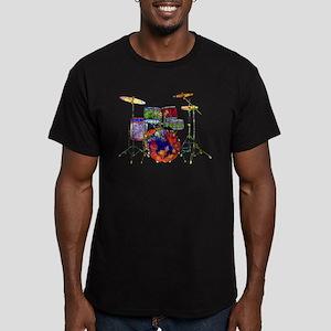Wild Drums Men's Fitted T-Shirt (dark)