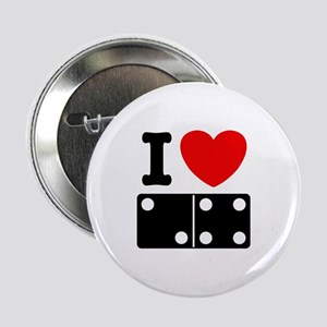 I Love Dominoes Button