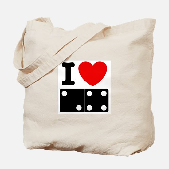 I Love Dominoes Tote Bag
