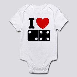 I Love Dominoes Infant Creeper