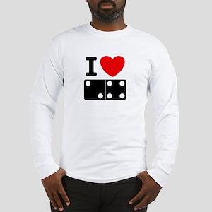 I Love Dominoes Long Sleeve T-Shirt