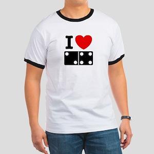 I Love Dominoes Ringer T