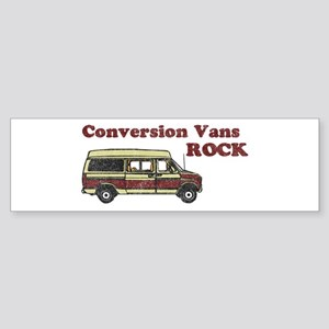 Conversion Vans Rock Bumper Sticker
